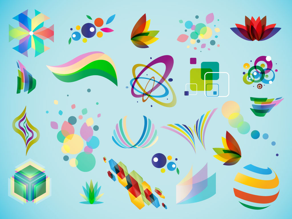 Colorful Logo Element Vectors