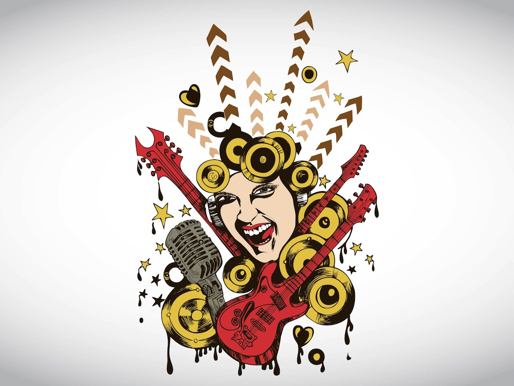 music cool designs vector graphic wallpapers vectors rock graphics singing microphone