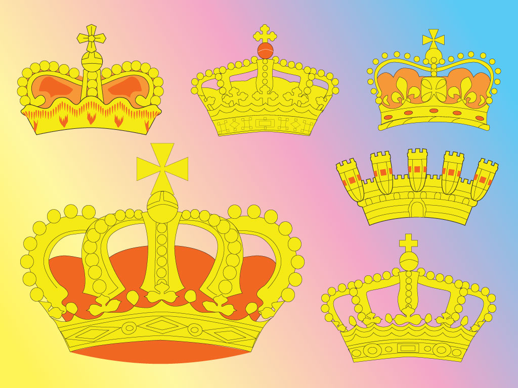 Crown Clip Art Six Pack