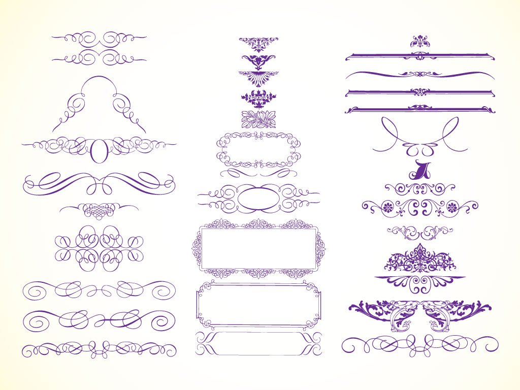 vector graphics for your designs  Frames  borders  scrolls  filigree
