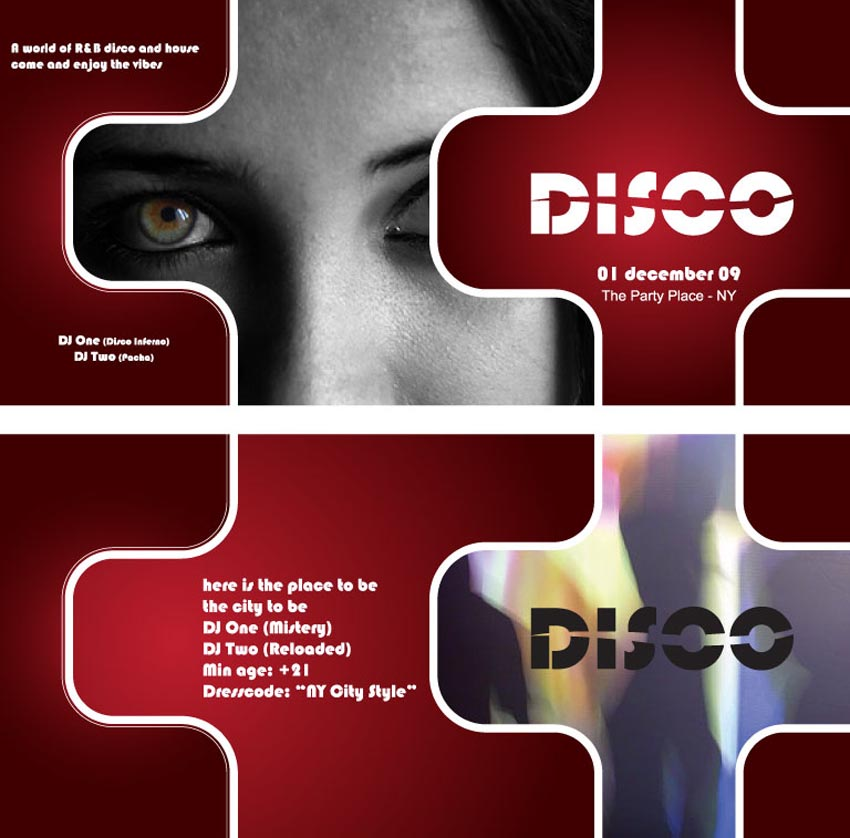 Disco Flyer Layout