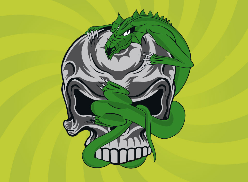 Airbrush Dragon Skull Art On Tank Blueprint Pictures