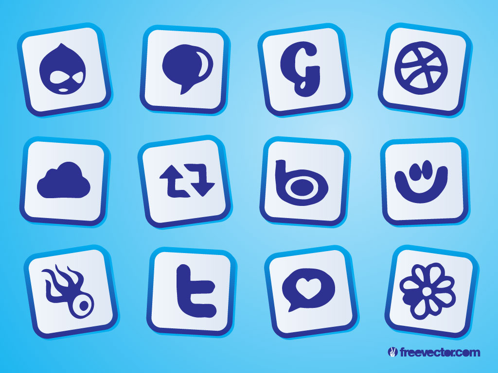 Social Icons Drawings