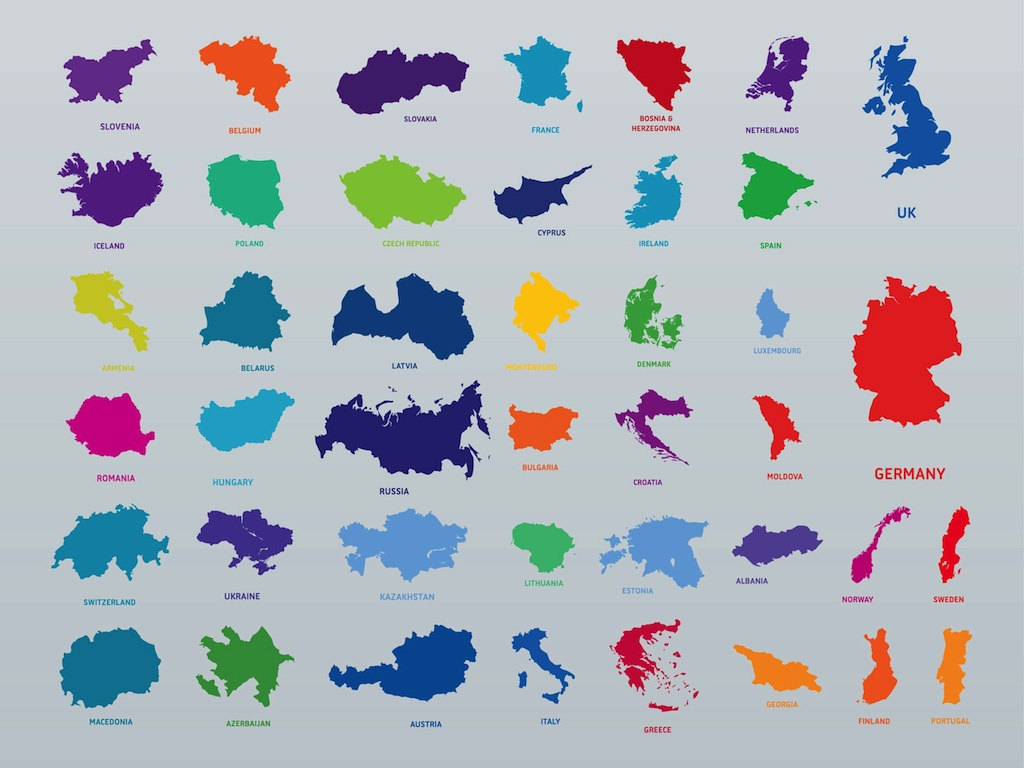 european countries vectors