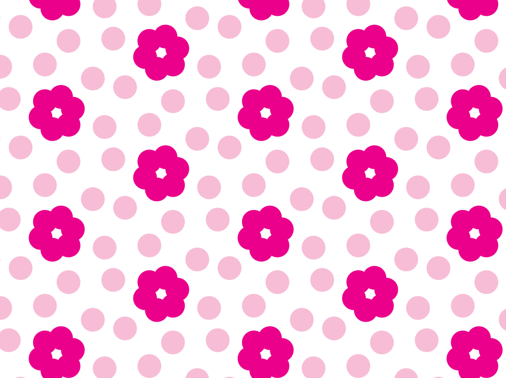 Flowers Dots Vector