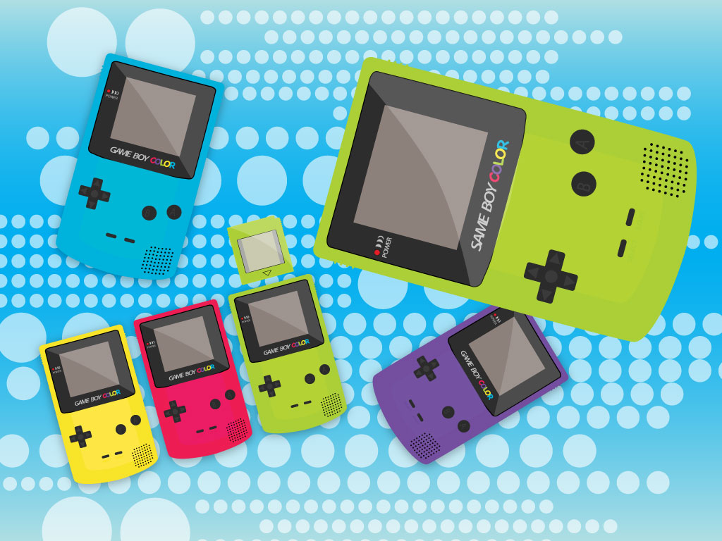 Gameboy Console Vectors