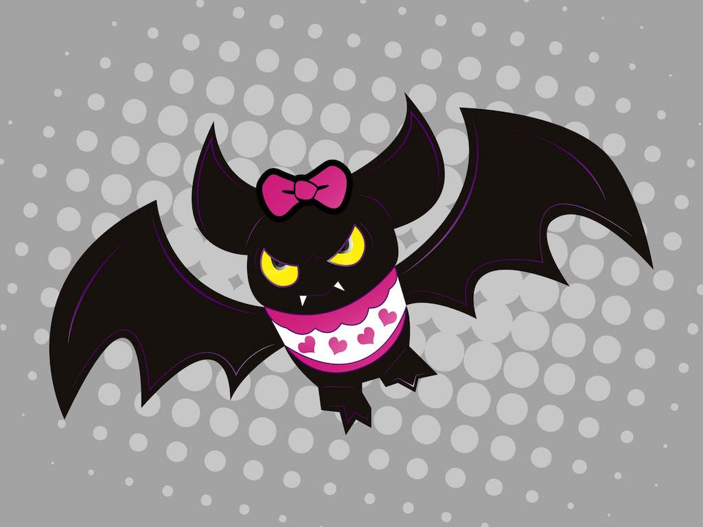 Girly Bat Vector