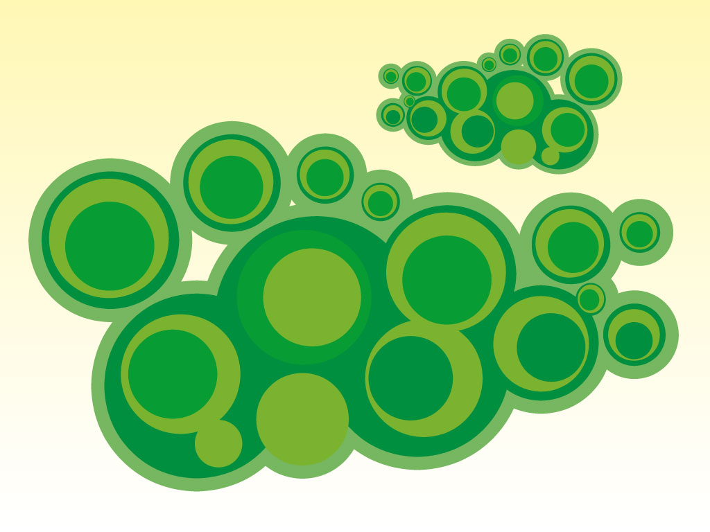 Green Circles Vectors