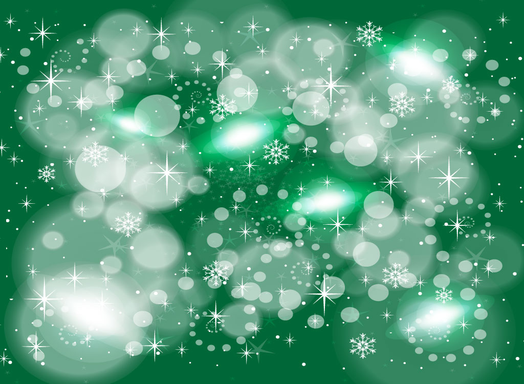 Green Winter Vector Graphics