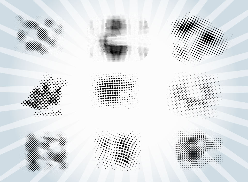 Halftone Brush Patterns