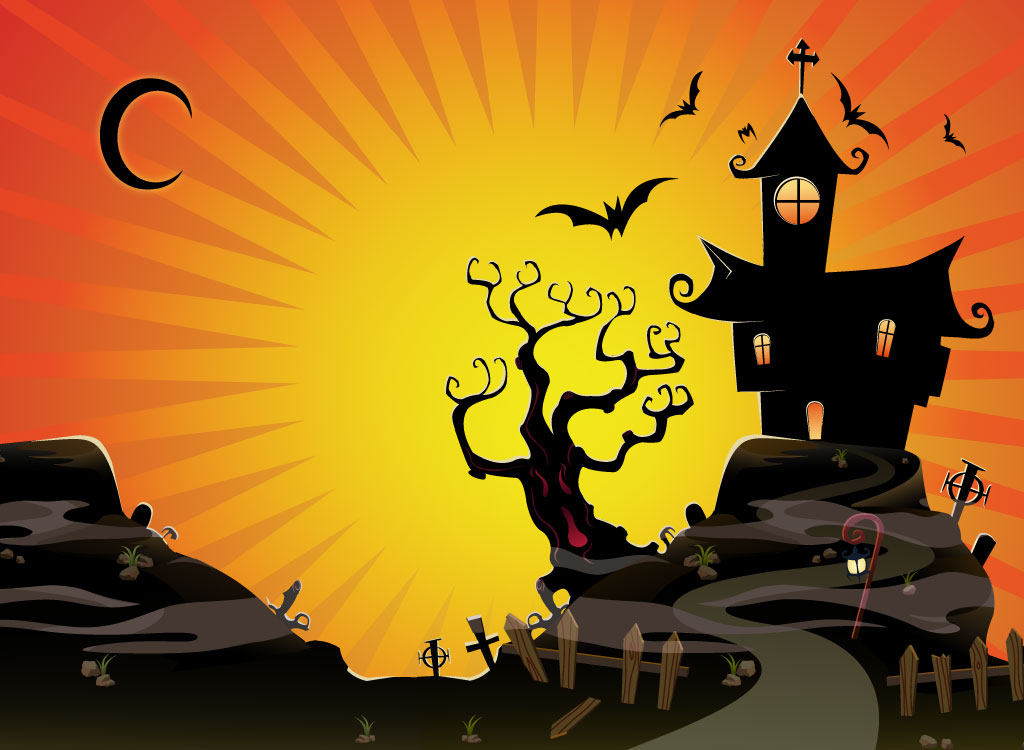 Halloween Scenes to Paint Halloween Scene