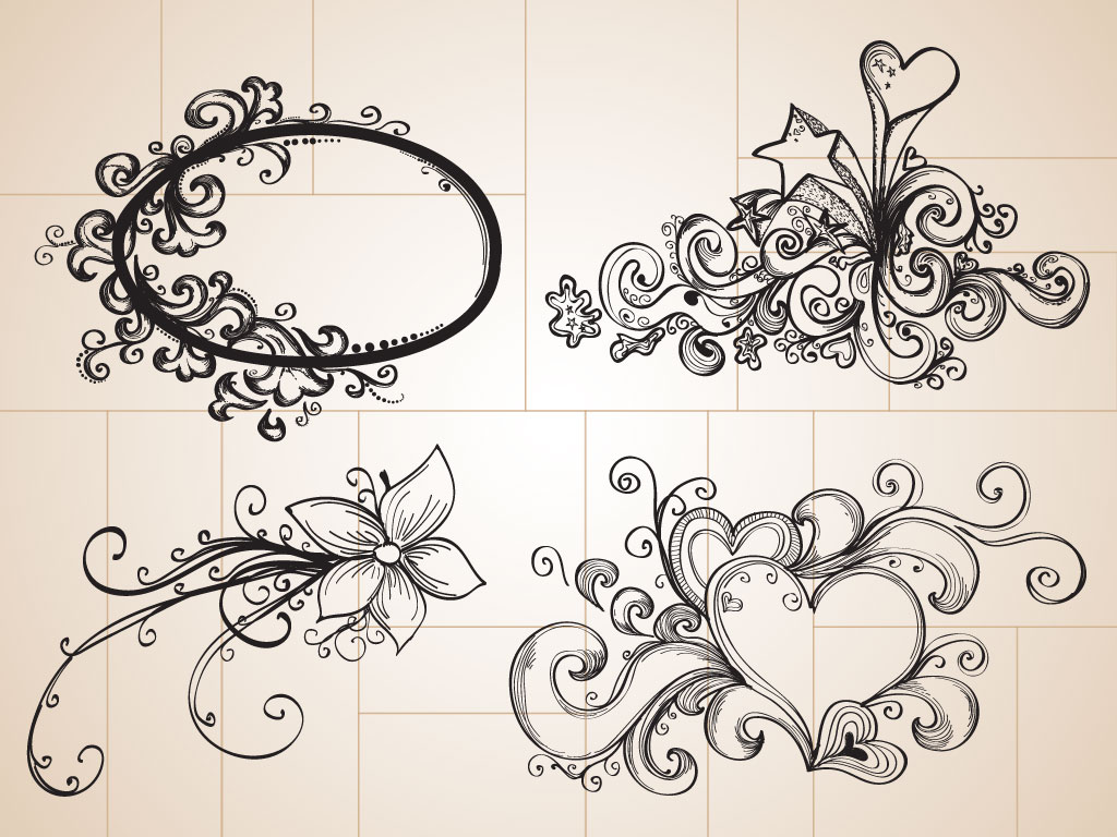 hand drawn decorations