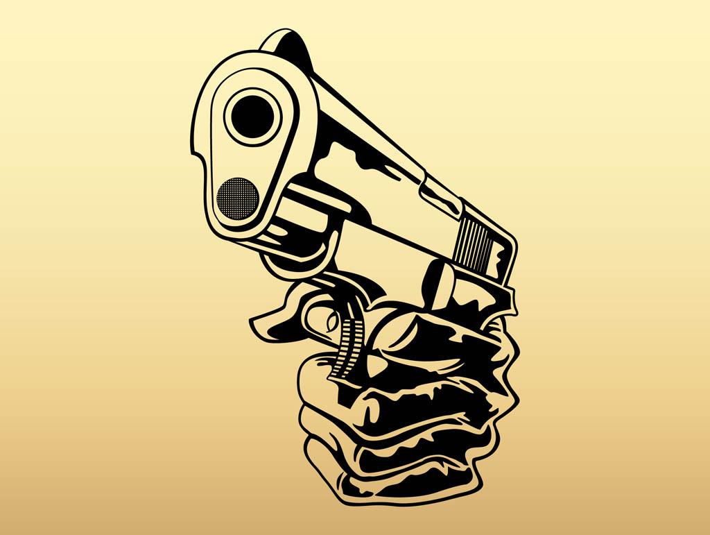 Gun Hand Hand With Gun