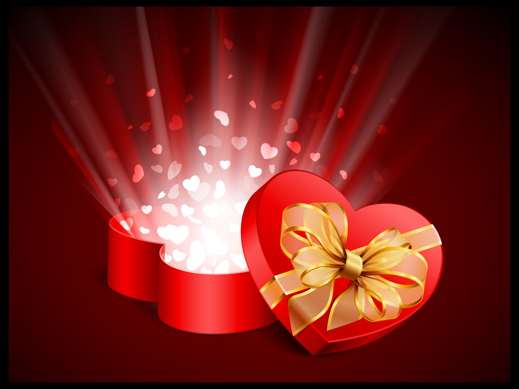 This heart shaped Valentine's gift box has opened up with bursting ...
