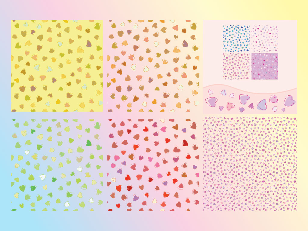 Heart Seamless Patterns