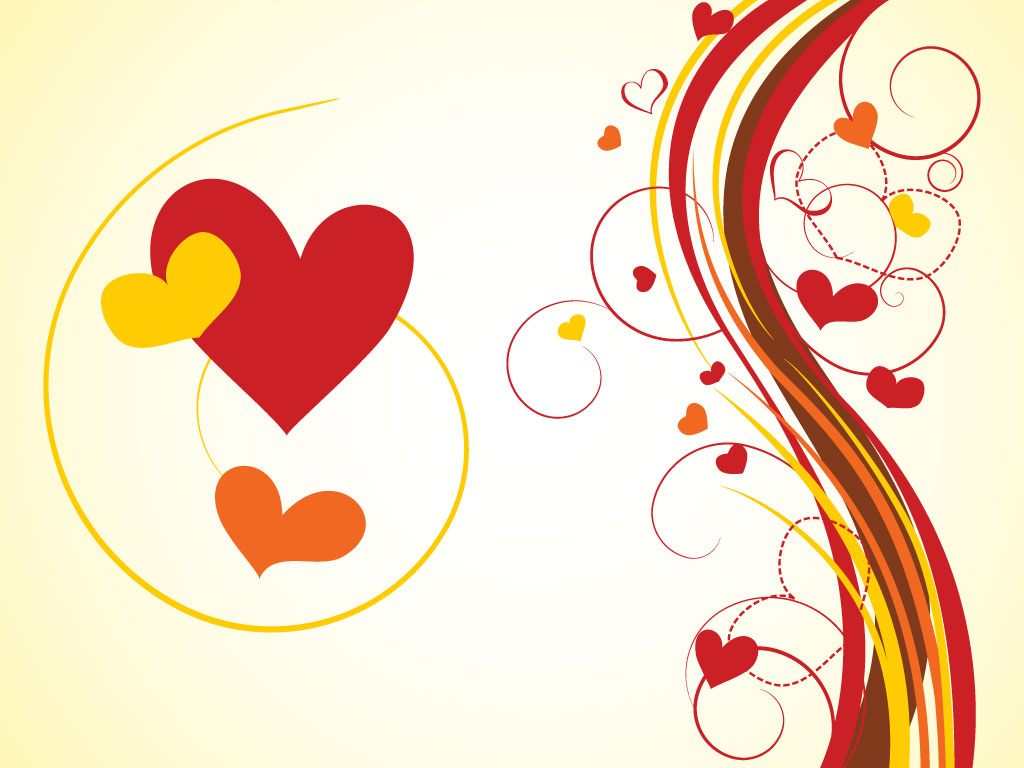 Hearts Graphics Background