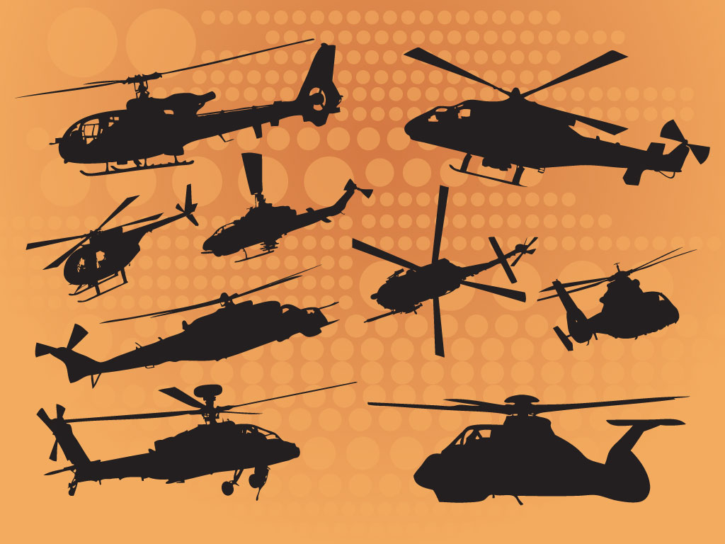 Helicopter Silhouette Vectors