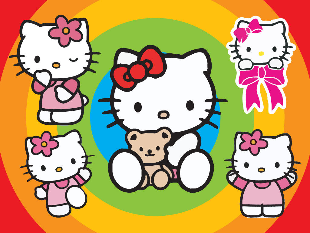 Download this bundle of Hello Kitty cartoons. Hello Kitty vector