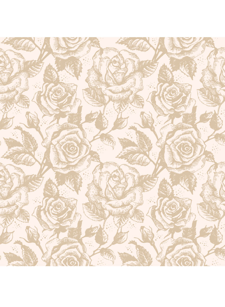 Illustrated Rose Pattern