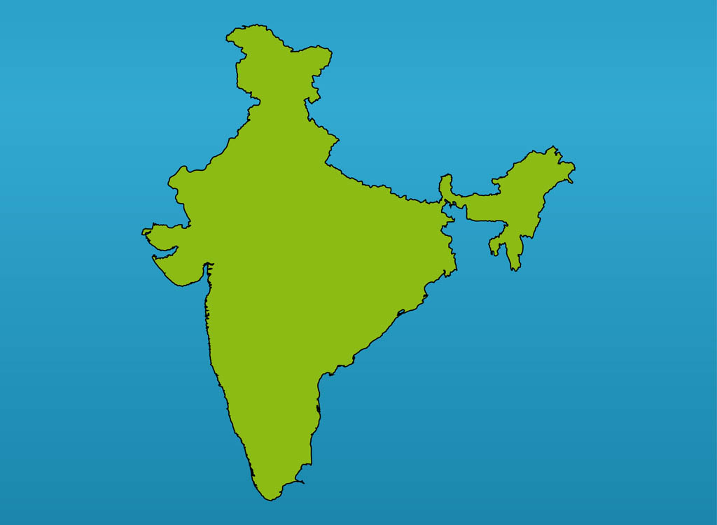 India - India map vector