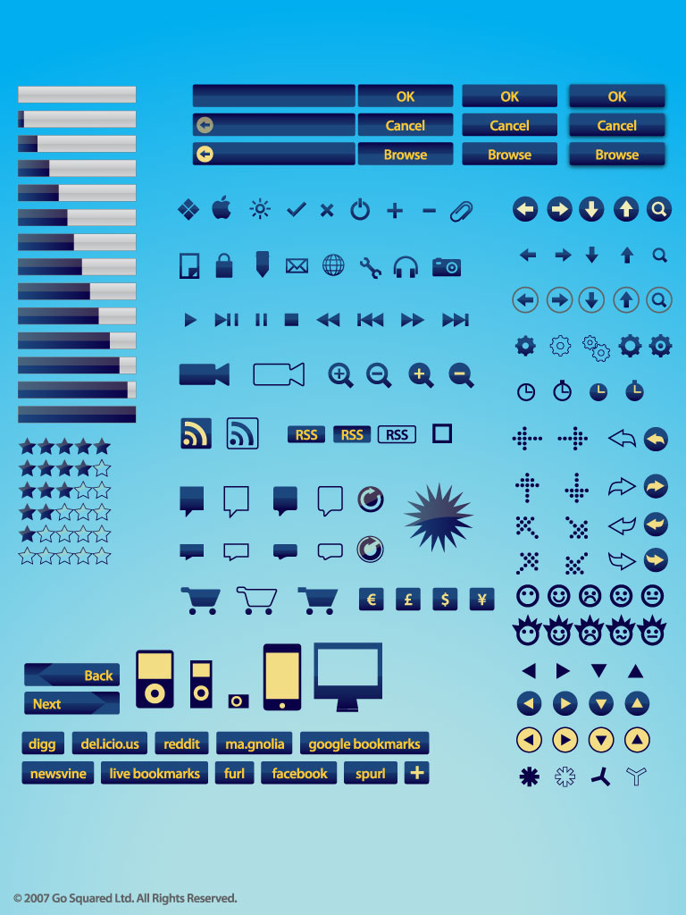 Internet Buttons Vector Set
