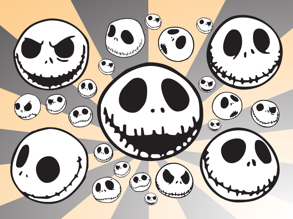 Jack Skellington vector cartoons inspired by the character created by ...