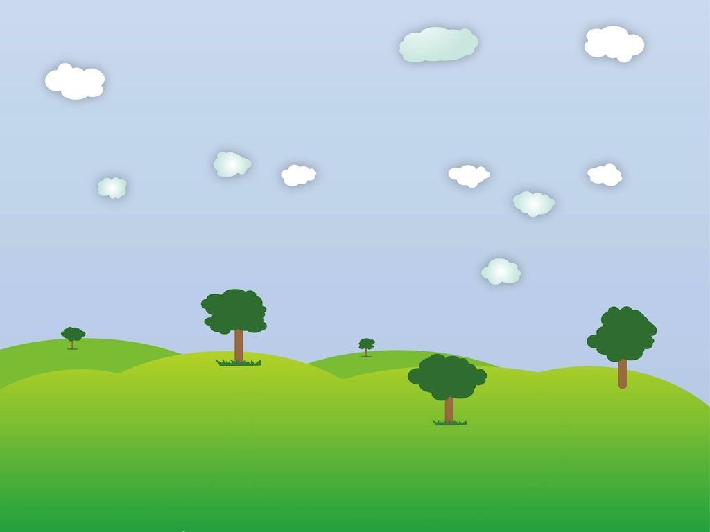 cartoon landscape clipart - photo #12