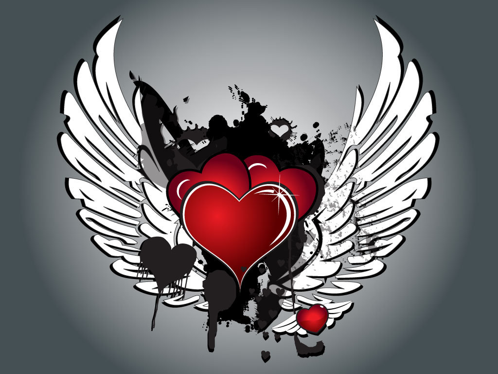 Love has wings for Love the design