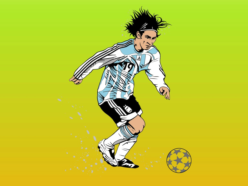 Messi Portrait
