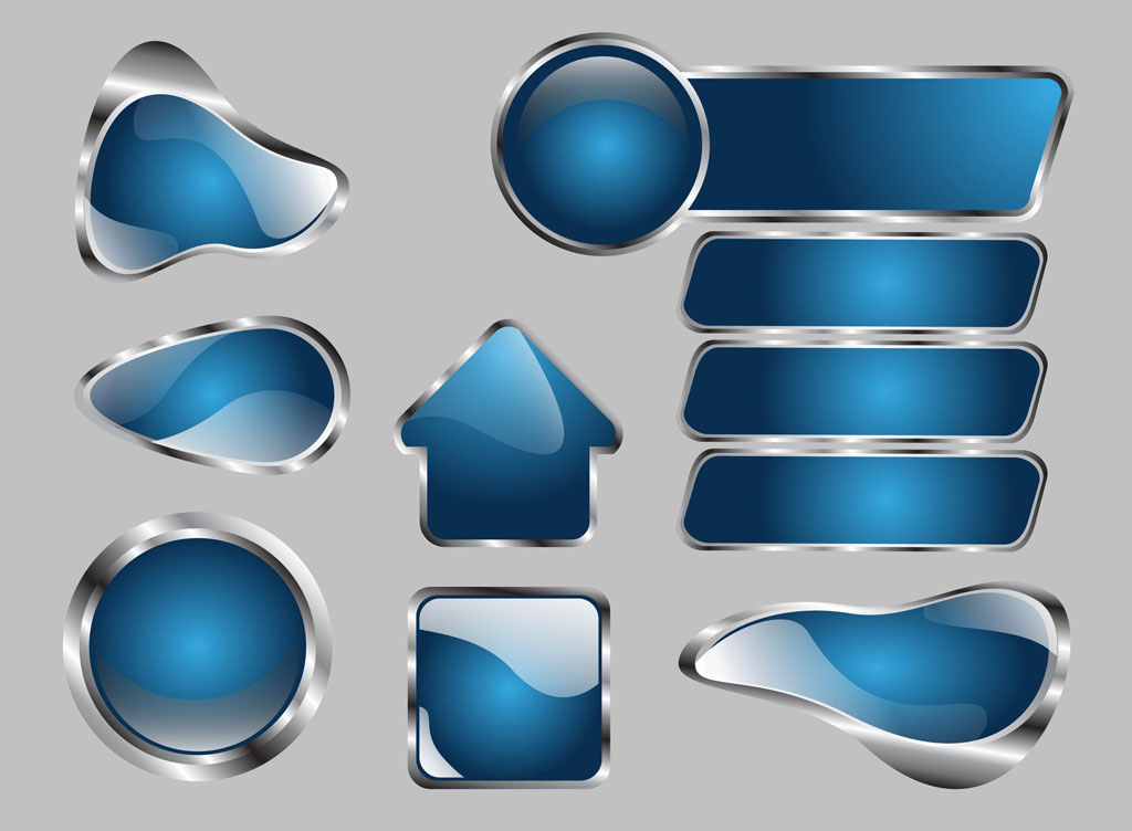 Metallic Vector Buttons