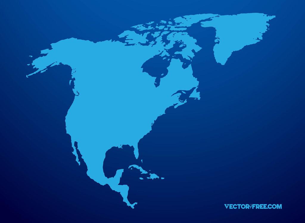 North America Vector - Us mexico vector map