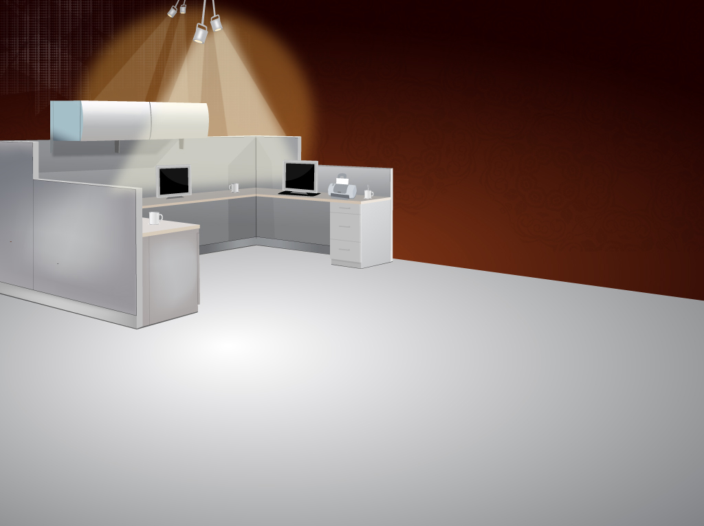 Office Cubicle Vector