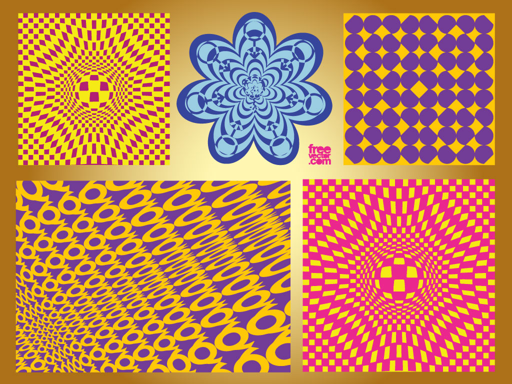 Different Art Designs : Op art patterns