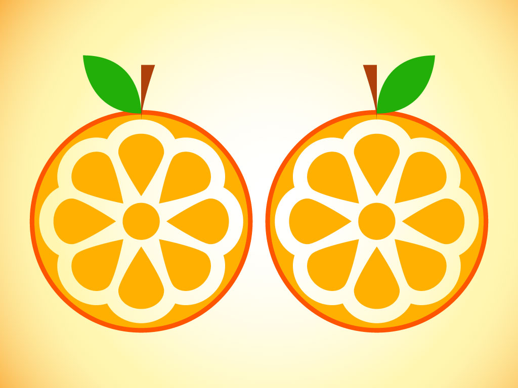 Orange Fruit Vector Orange Slice Icon