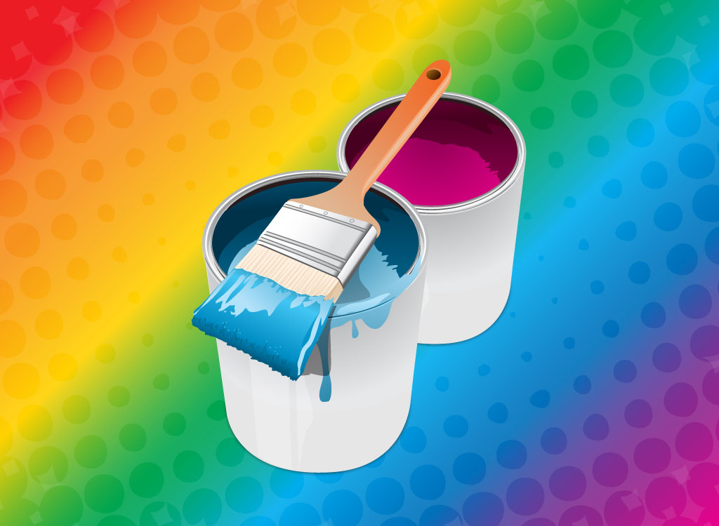 Paint Brush With Buckets