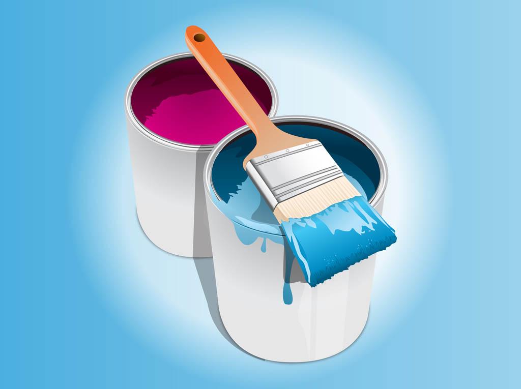 Paint Bucket Vector Paint Buckets Vector