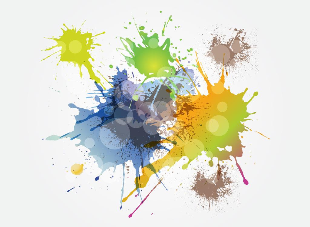 Как сделать брызги краской на 397