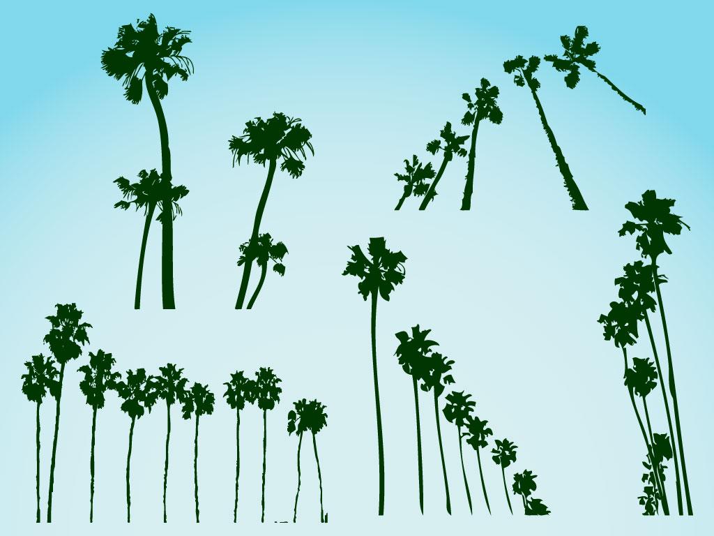 palm trees vectors