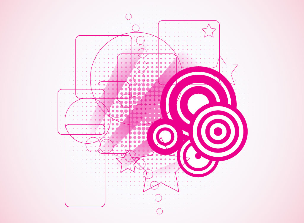 Pink Basic Shape Vectors