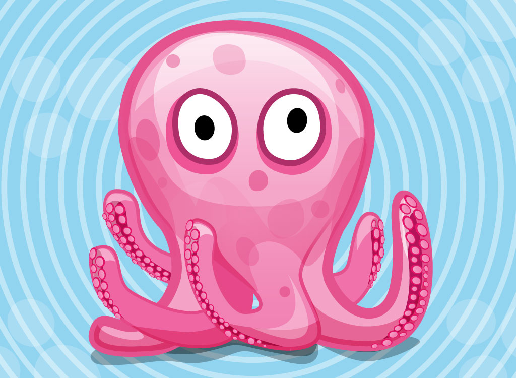 cute pink octopus cartoon - photo #5