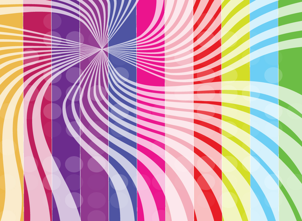 Psychedelic Stripe Background
