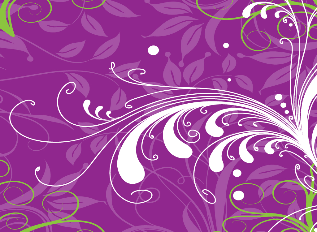Purple Floral Vector Backdrop
