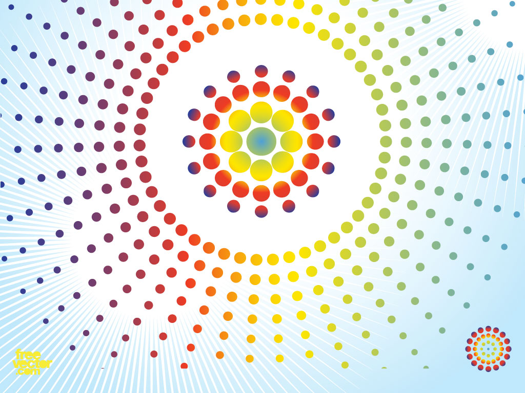 Radial Dot Background