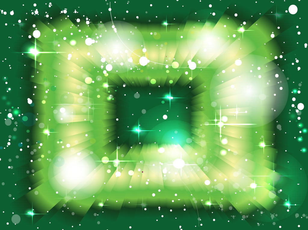 Radiant Green Vector Background