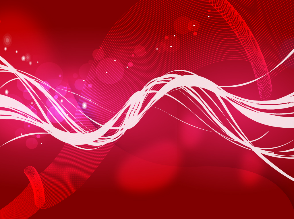 Red Background With Swirl