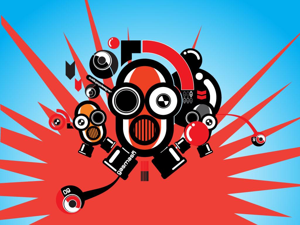 Gas Mask Robot Robot Gas Mask