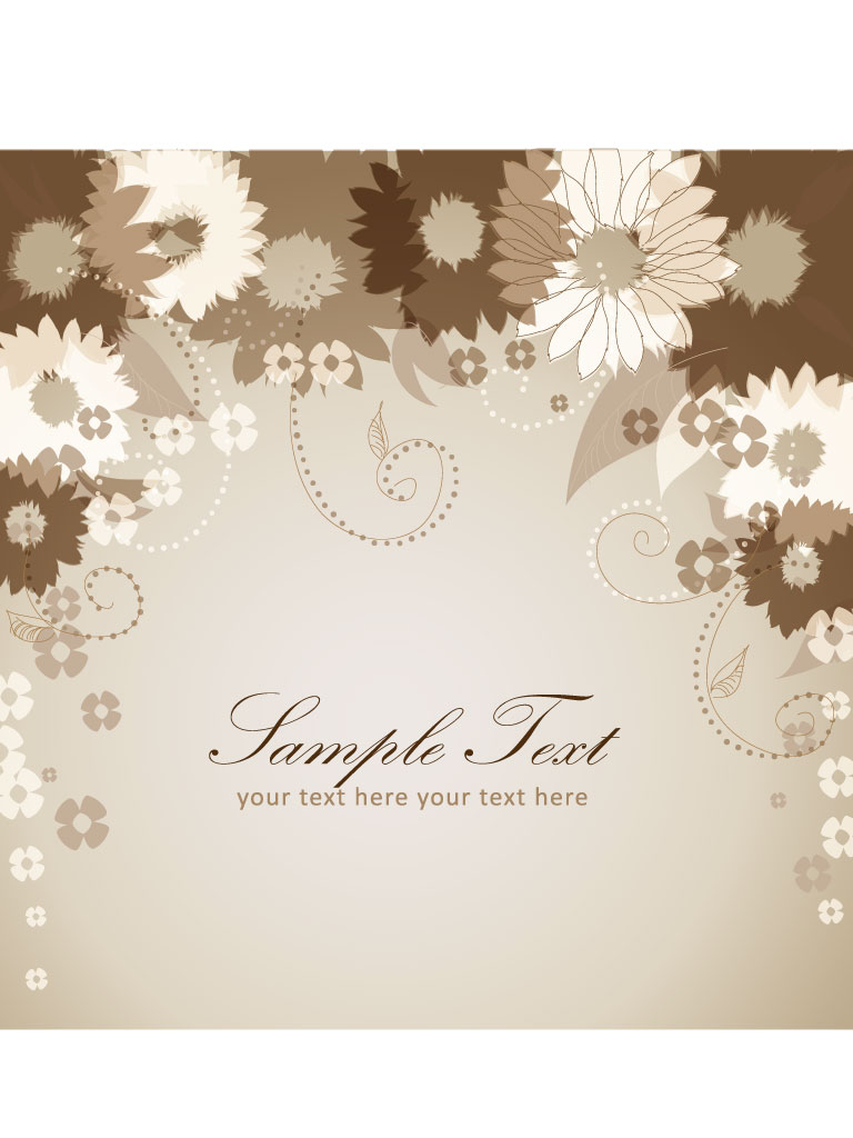 Sepia Flower Graphics
