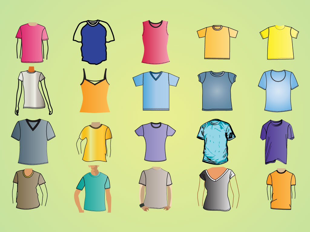 Shirt Template Vectors