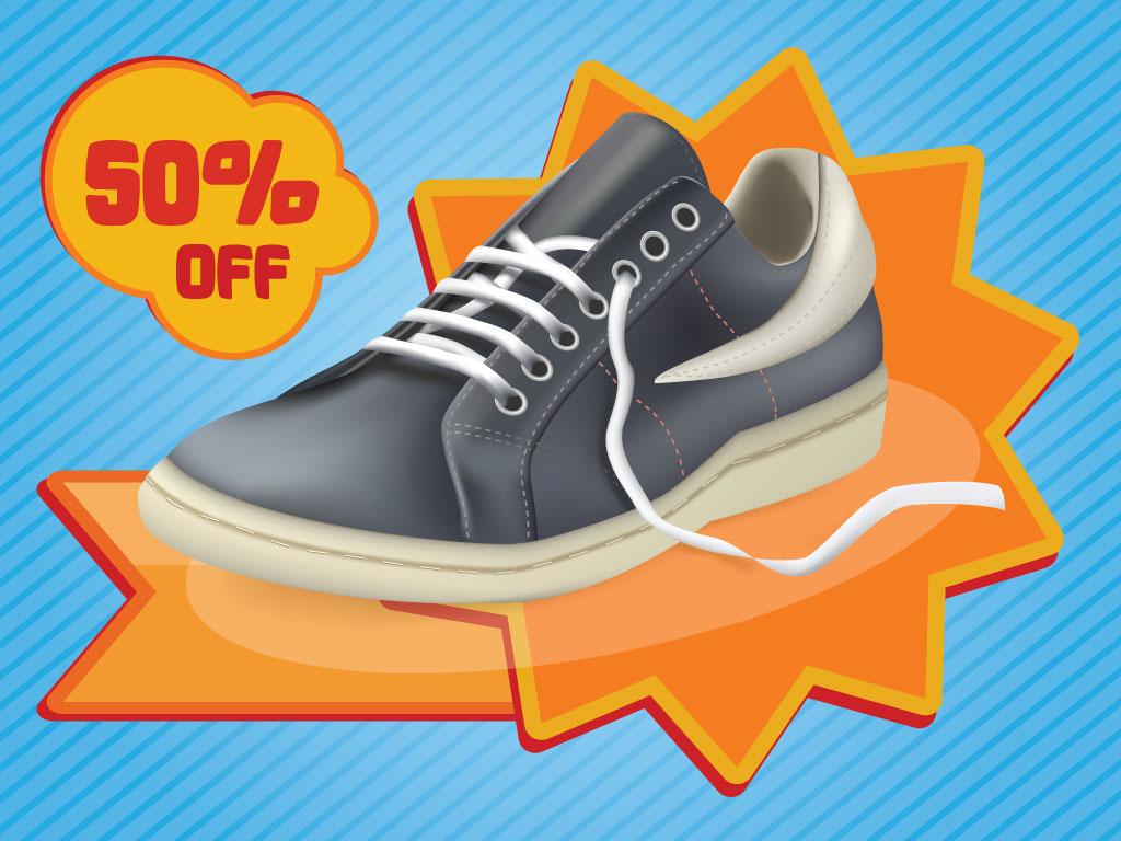 shoe promo vector