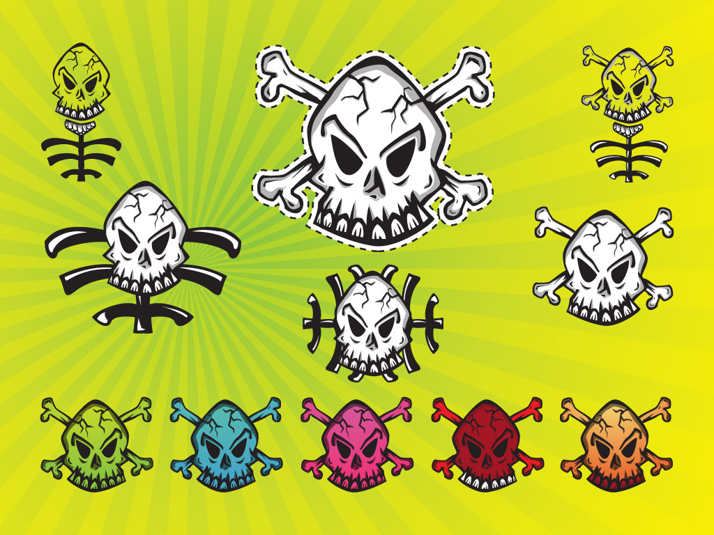 Skull Graphic Set